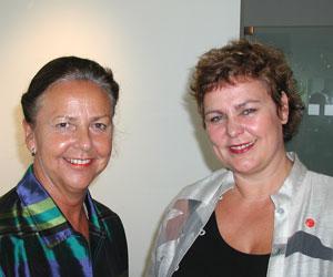 Grete Knudsen og Ellen Horn
