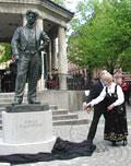 Johan Halvorsen statue (avduking)