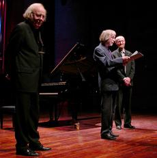 Arne Nordheim-prisen 2002: Nordheim, Kolberg, Slettholm (Foto: Håkon Styri)
