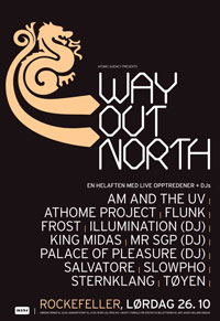 "Plakat for ""Way Out North"", oktober 2002"