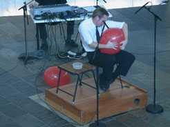 Rolf Wallin på ballong- Magma 2002