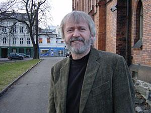 Erik Hillestad utenfor Jakobkirken (Foto: KKV)