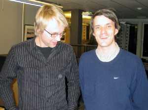 Håkon Moslet og Audun Vinger, Alarmstyret (Foto: Alarmweb.org)