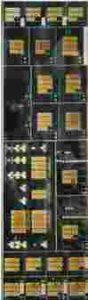 """detalj fra manøverbordet i det gamle """"Elektronmusikstudion"""" (EMS) i Stockholm, utviklet av nordmannen Knut Wiggen"""