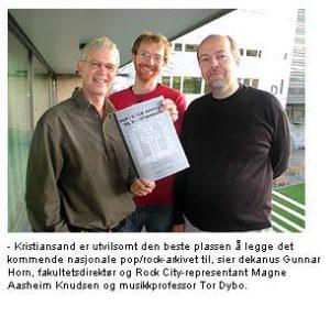 Gunnar Horn, Magnus Aasheim Knudsen og Tor Dybo
