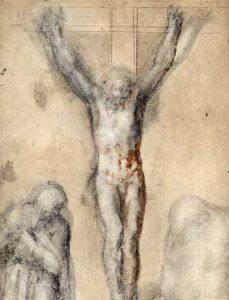 Michelangelo Buonarroti: Korsfestelse med den hellige Maria og St. Johannes