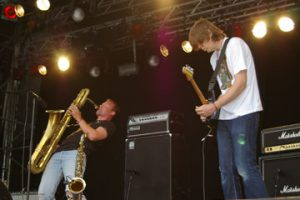 Diskaholics Anonymous Trio, Øyafestivalen 2005 (Foto: Hilde Aarflot)