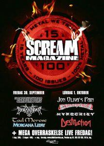 Scream Magazine feirer 15 år og 100 nummer (Plakat)