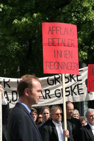 Oslofilharmonien: Markering foran kulturdepartementet 1