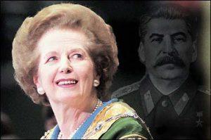 Margaret Thatcher med Stalins skygge