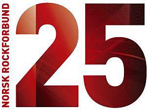 Norsk rockforbund 25 år_logo