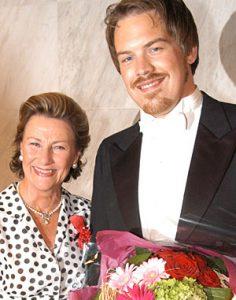 Audun Iversen og Dronning Sonja