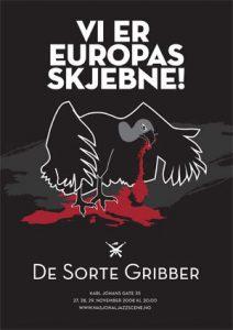 De Sorte Gribber_plakat