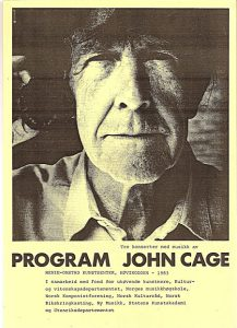 John_Cage_Høvikodden83_plakat