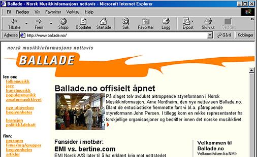 Ballade faksimile - 1. september 2000