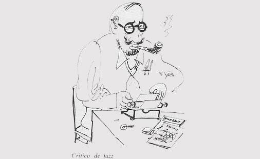 Jazzkritikeren, slik tegneren Stephen Longstreet så ham for seg.