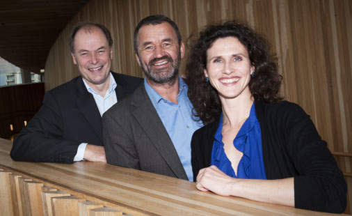 Operadirektør Tom Remlov, operasjef Per Boye Hansen og ballettsjef Ingrid Lorentzen.