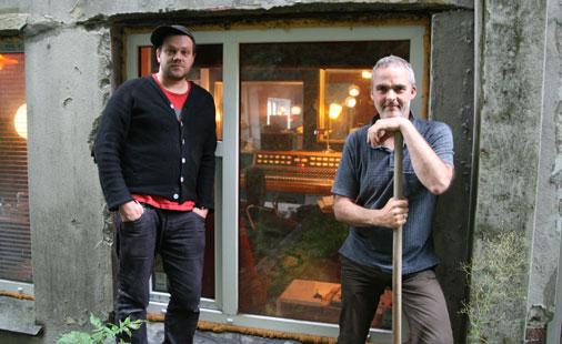Jørgen Træen og Ynge Sætre i Duper Studio