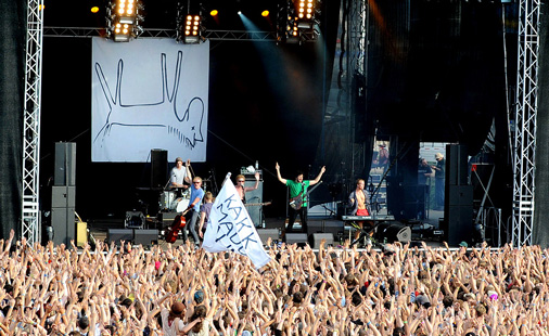 Kakkmaddafakka på Dockville Festivalen i Hamburg, august 2011