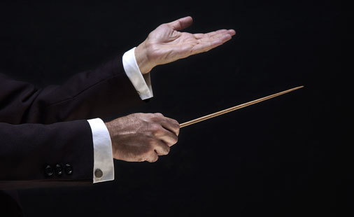 Dirigent hender (illustrasjonsfoto)
