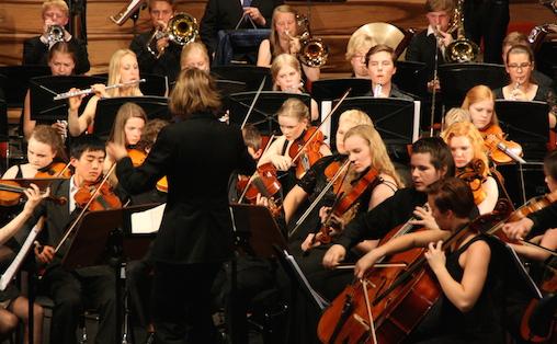 Også De unges orkesterforbund så frem til å kunne hjelpe flere unge med orkesterinstrumenter