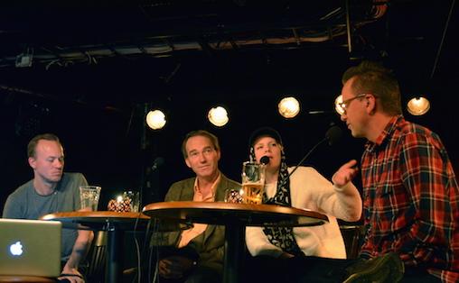 F.v. Torgny Amdam, Thomas Hylland Eriksen, Sandra Kolstad og Jon Refsdal Moe.