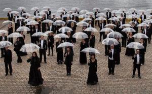 Bergen Filharmoniske Orkester fremfører musikk av Nordheim og Nørgård under konserten Nordisk Prisme i juni 2015 . Foto: Oddleiv Apneseth