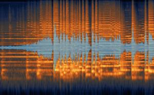 Spektrogram av introen til Beethovens 9. symfoni, fremført  av TSO.