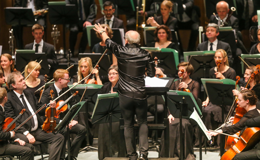 NOSO på turnè til Salzburg og Wien i Østerrike, April 2015. Foto: Yngve Olsen Sæbbe. Dirigent Christian Lindberg.