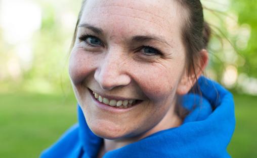 Henriette Larsen, kunstnerisk leder Miniøya. Foto: Stina Karlsen.