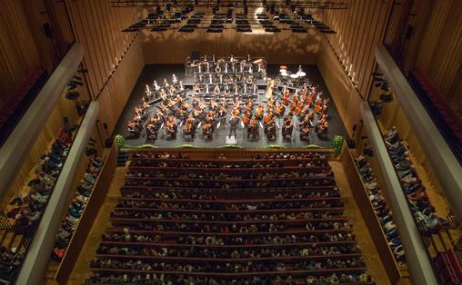 Trondheim symfoniorkester under Musikkfestuken. Foto: Henrik Dvergsdal/Nordland Musikkfestuke.