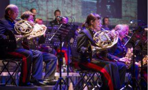 Forsvarets musikkorps Nord-Norge er nedleggingstruet i flere av forslagene. Her fra konsert i Narvik. Foto:  Anette Ask Forsvaret