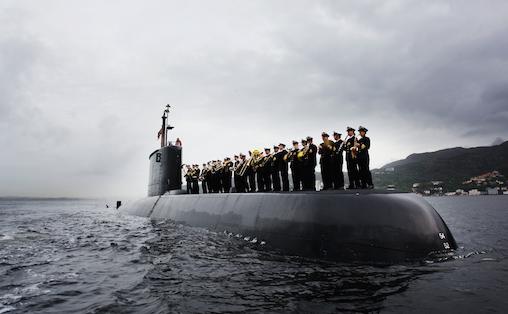 Sjøforsvarets Musikkorps (Tidligere Forsvarets musikkorps vestlandet) holder til i Bergen Foto: Forsvaret