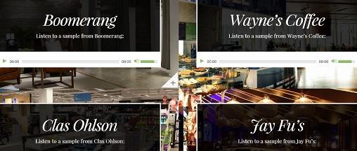 Eksempler på musikk fra Royal Streaming