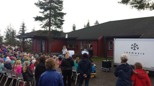 Ismusikk-konserten i Fetsund Foto: Olav Opsvik