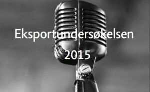 Utsnitt forside Eksportundersøkelsen 2015