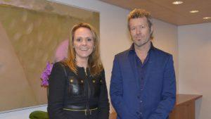 Linda Hofstad Helleland og Magne Furuholmen Foto: Wenche Nybo / Kulturdepartementet