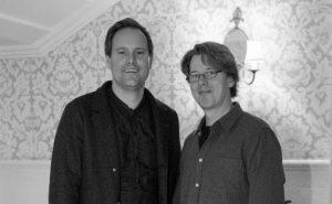 Erik Brataas (til høyre) og Oke Göttlich, Finetunes den gang disse slo seg sammen Foto: Phonofile