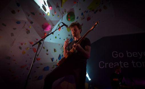 Popbandet Kid Astray spilte på Tyrili klatresenter under Lillehammer OL. Foto: Gisle Johnsen / Lillehammer 2016