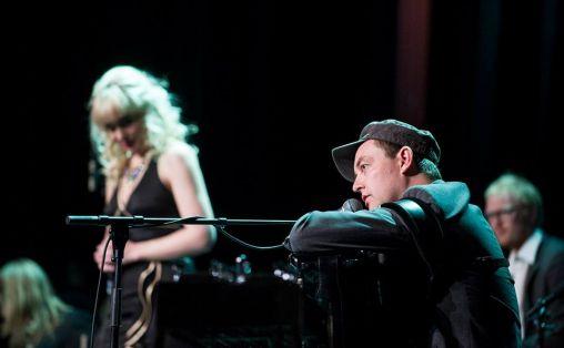 Stian Carstensen, med Music for a While på Bergen Festival i 2013 Foto: Thor Brødreskift