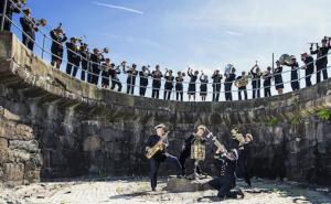 Kongelig Norsk Marines musikk korps i Horten Foto: Forsvaret