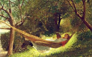 Girl in the hammock av Winslow Homer