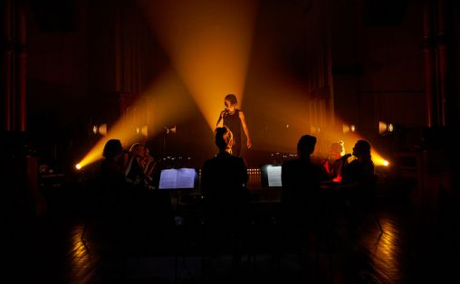 Maja Ratkje og Trondheim Voices Foto:  Ultimafestivalen / Andreas Turau