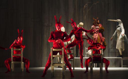 Fra forestillingen Den listige lille reven på Bergen nasjonale opera Foto: Yanniv Cohen
