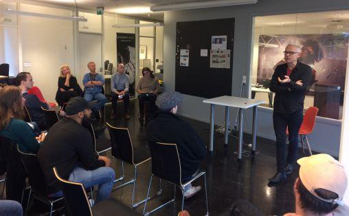 Rolf Wallin på seminaret Foto: Pål Dimmen / Music Norway