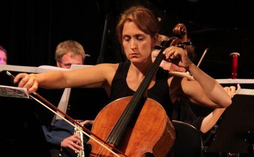 Fra Khipukamayuk, Lene Grenager, konsert på Dokkhuset sept 2014 med Trondheim Sinfonietta Foto: Privat