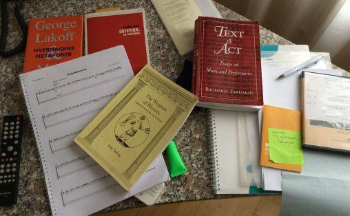 Noter, musikk og teori Foto: Privat