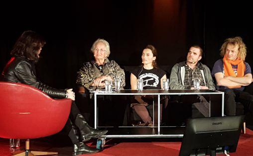 Panelet med Kjersti Løken Stavrum til venste, Birgitte Grimstad, Maja K. S. Ratkje, Pål Moddi Knutsen, Foto: Aslaug Olette Klausen