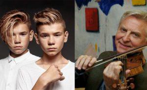 Marcus & Martinus var de yngste og Arve Tellefsen den eldste av årets Spellemenn. Begge hadde til felles at de ikke var til stede da de ble ropt opp som vinnere. (Foto: Spellemannprisen)
