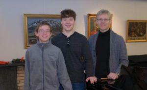 Nikita Khnykin og Amund Skretting Bergset valgt ut til Prof. Jiri Hlinka Klaverakademis mentorprogram Foto: Prof. Jiri Hlinka Klaverakademi